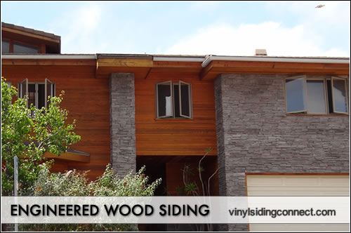 Engineered wood siding vinyl siding connect for Wood house siding options